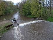 Hladiny toků se moc nezvedly, v Jeseníkách spadla voda jako sníh